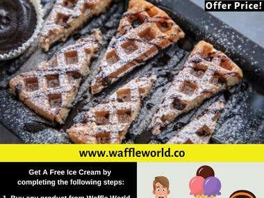 We have created a poster for Waffle World.