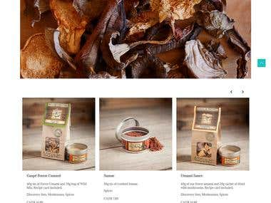 A complete e-commerce website to sell plants, spices and herbs from the Forest.