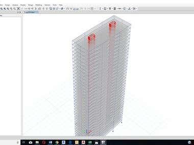 Etabs Model for High rise building