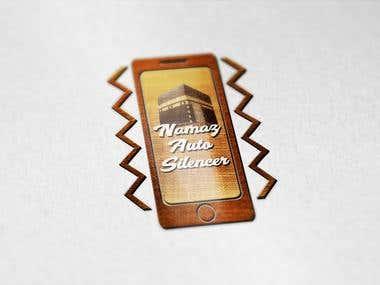 Android app and logo design for Mitz. App name (Namaz Auto Silencer)