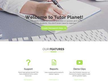Its a tutor website where you can easily create homework, activities or quizzes and send them to students. Its web Plan.