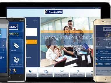 A Leading Banking Group in The Gulf Region  Emirates NBD Bank is a leading banking Group in the region. Emirates NBD has always been a pioneer in adopting the latest innovation aimed to meet its clients' different lifestyles. Emirates NBD contracted Solutions 4 Mobility to develop its m-Banking application across all platforms including Apple iOS, BlackBerry, BlackBerry 10, Android, and Windows Phone 8.  Emirates NBD mobile applications offer clients the same banking services they are acquainted with, through the online-banking, where, users can download the application to their Smartphones, with a secure connection they can perform any of their desired transactions such as:  Accounts listing, details and statement Credit cards listing, details, and statements Loans details and statements Financial summary view Request for cheque book or statements Transfer between accounts Transfer to accounts in other banks Create beneficiaries and view the list View transaction summary  and more..