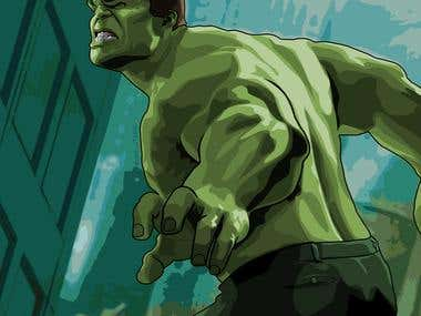 This is my try for vectoring hulk