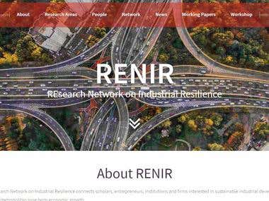 I have Resign this website using HTML5, CSS3, PHP, MYSQL and WordPress Plugins.  https://renir.carloalberto.org/