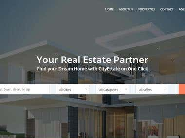 REAL-ESTATE MARKETPLACE FOR REAL-ESTATE COMPANY.   Where owner, agent and seller can register there properties and buyer can contact and offer there price.