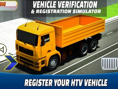 """This """"Vehicle Verification & Registration Simulator Game"""" game will guide you how to register and verify your new vehicle. In this simulator vehicle verification, you can verify your multiple moto like cars, jeeps, truck, motor cycle, heavy bikes, van, bus, tractor and other engines. Enter your personal and vehicle information and then verify your required automobile.  Online authentication helps you to register your moto that included owner detail, vehicle price, model, registration, engine no and etc."""