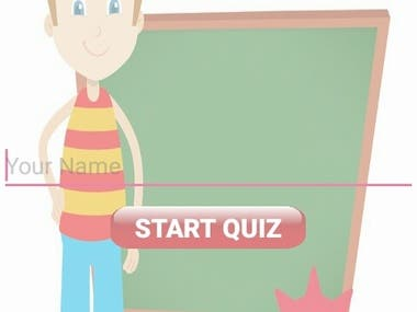 I Developed Quiz Game App Contains UI Screens, This Quiz Game App Contain 6 Categories each Categories Contains 10 Questions When User Select correct Answer it displays message Correct Answer and mark 1 point for you and you get the total marks out of 10 points depend on how many answer are correct and if you select Wrong Answer then it shows the message Wrong Answer and also display message tell the write option.