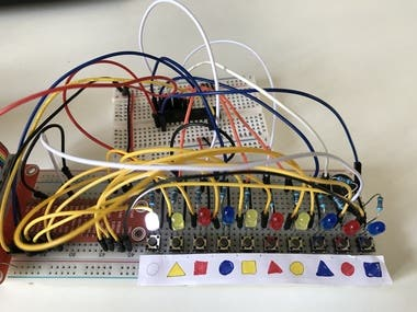This project was designed to investigate how chimpanzees respond to pattern solving.  I was involved in writing the Python software and helping solve hardware and design issues.   The software lights up 3 illuminated shaped buttons and provides 2 hints on screen that the chimp should not choose. The chimp gets food reward despatched by a stepper motor for a pressing the correct button or a sound for a wrong answer.  The patterns get progressively more complex to challenge the chimp.