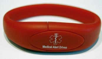 These flash drives come equip with my custom software made for keeping track of a users medical information. The application was designed for easy use for anyone. After you have entered the information the application then can create generate a medical alert card with the most important details, as well as a full pdf containing all your information. This makes it easy for medical professionals to read and interpret.