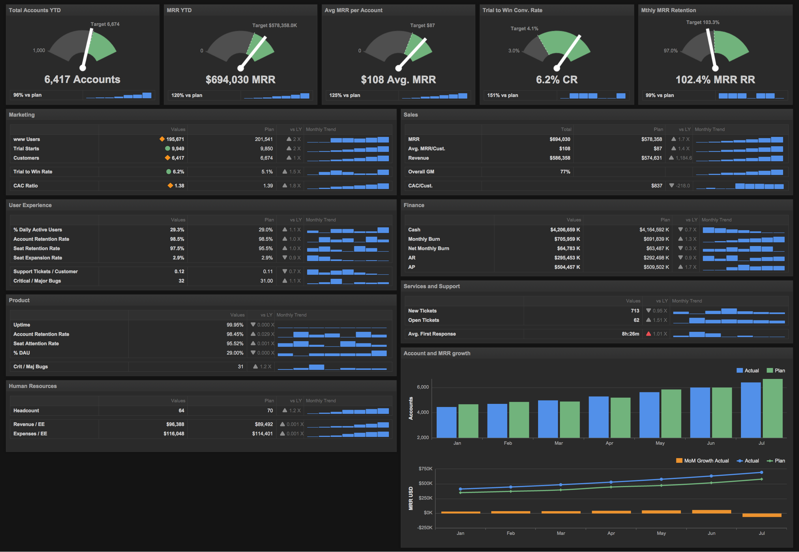 ceo business intelligence dashboard