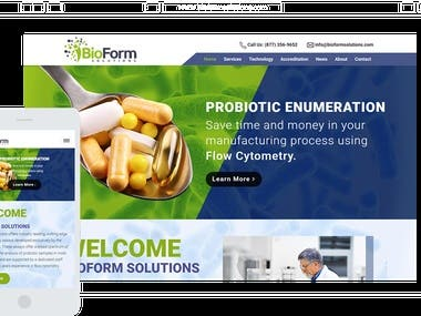 Scientific Research Website completely done in Wordpress from scratch