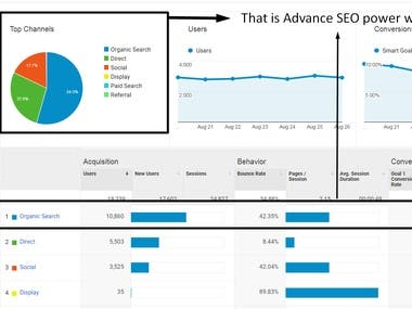 As you can see my client traffic with advanced seo service in few months.  My client was very happy and continue this project for long time