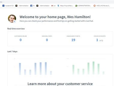 I have helped companies with providing live chat service on their website. I was greeting the customers online and was answering questions regarding the information, sales, complaints or appointments.