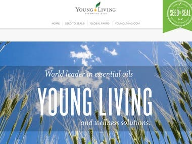 Website for essential oil company