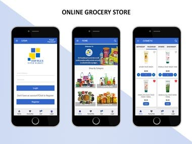 An Online Grocery app developed for both Android and iPhone with a complete and easy to manage admin dashboard.