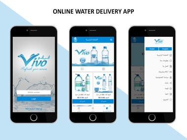 Online food delivery app for Android and iPhone mobiles. It supports two languages English and Arabic with left to right and right to left orientation.