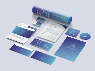 brand identity design for Neptune events company
