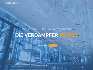 Website created in Joomla for a German Client.