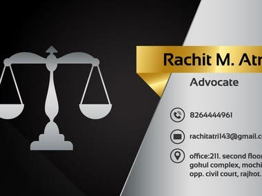 Business card design for company short identity.