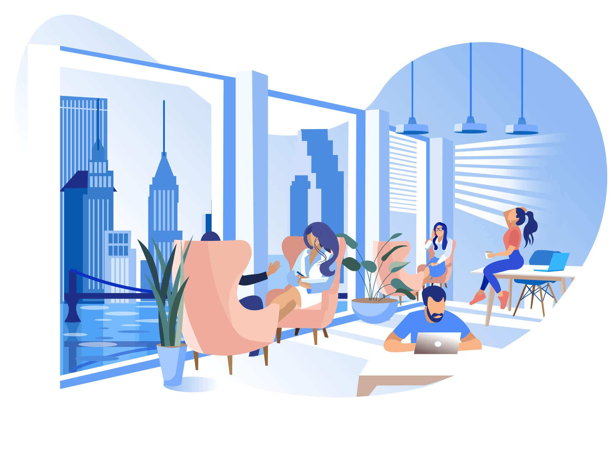 Cover photo for WeWork and the future of coworking spaces