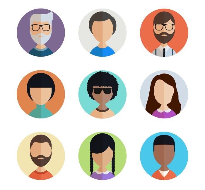 illustration people icons