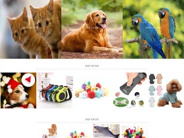 Cool pets Shop is a Dropshipping Shopify Developed Site. It is multi Language site.