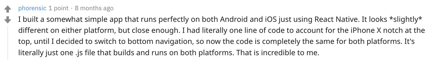 react native app development reddit