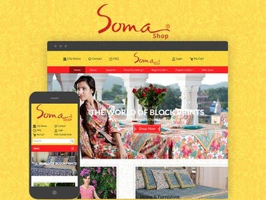 In the age of mass production, Soma is an outstanding example of what can be achieved when work ethic and skill are applied to an ancient craft. Using the knowledge and techniques that have been passed down through many generations, the art of block printing brings passion and excitement into the 21st century.  Throughout the year, Soma range of household textiles and fashion are evolving and expanding. Please check out our website on a regular basis to enjoy new styles in fashion, and fresh designs for your home.