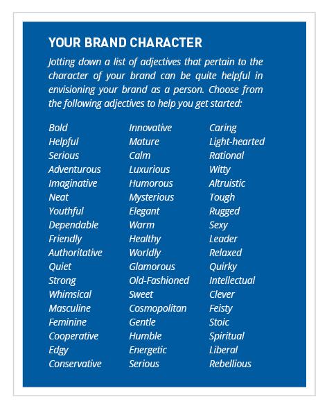 brand personality characteristics