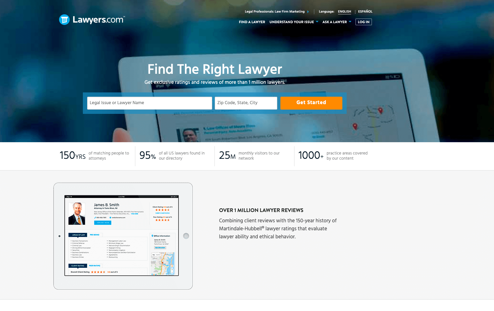 lawyers.com color scheme