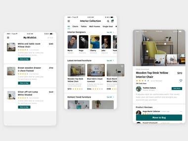 Created the Interior Design app