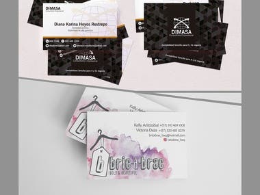 These are some design samples for lithographic printing of my work applied to business cards. --- Estas son algunas muestras de diseño para la impresión litográfica de mi trabajo aplicado a tarjetas de presentación. --- Behances portfolio: https://www.behance.net/andres-duq6cf6