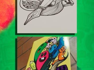 These are samples of illustrations made in pencil and paper. --- Estas son algunas muestras de ilustraciones hechas en lapiz y papel. --- Behances portfolio: https://www.behance.net/andres-duq6cf6