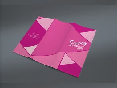brochure for women's organization against violence