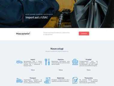 Full website creation for a car mechanic and car import shop in Poland. Client specified all the details and I guided him trough the whole process, so together we created a site he is satisfied with. Website was custom coded and created in Joomla CMS.
