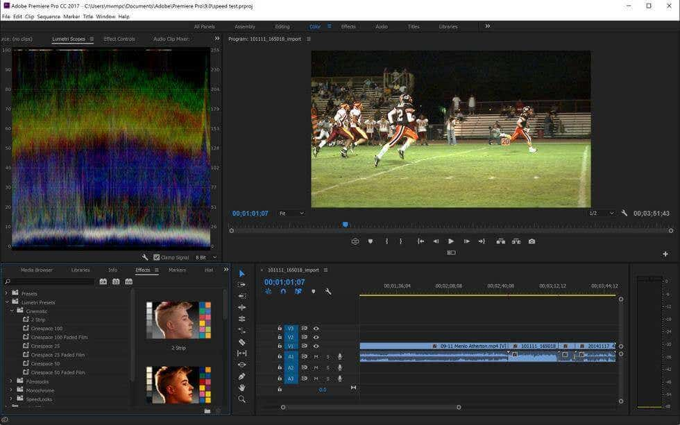 Adobe Premiere Software