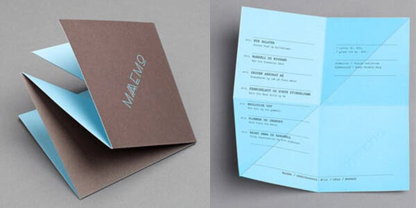 Fold-up design for modern business card