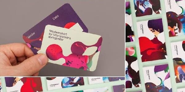 Funky color design for modern business card