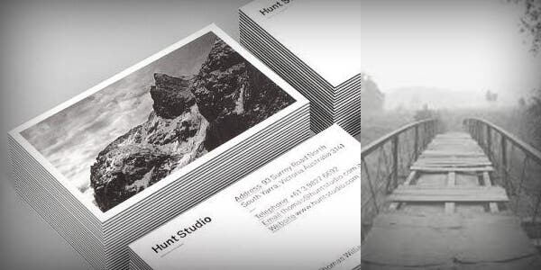 Realistic photography design for modern business card