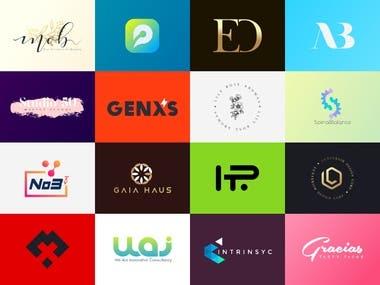 Various conceptual logo designs