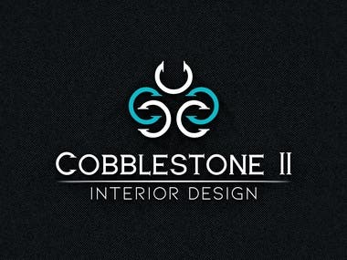 Design a logo for a interior design company. The company has a relaxed traditional design focus with european influences. The name of the Company is Cobblestone II, LLC.